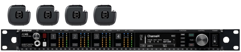 SHURE AXIENT DIGITAL 4 WAY ADX1M MICRO LAV SYSTEM