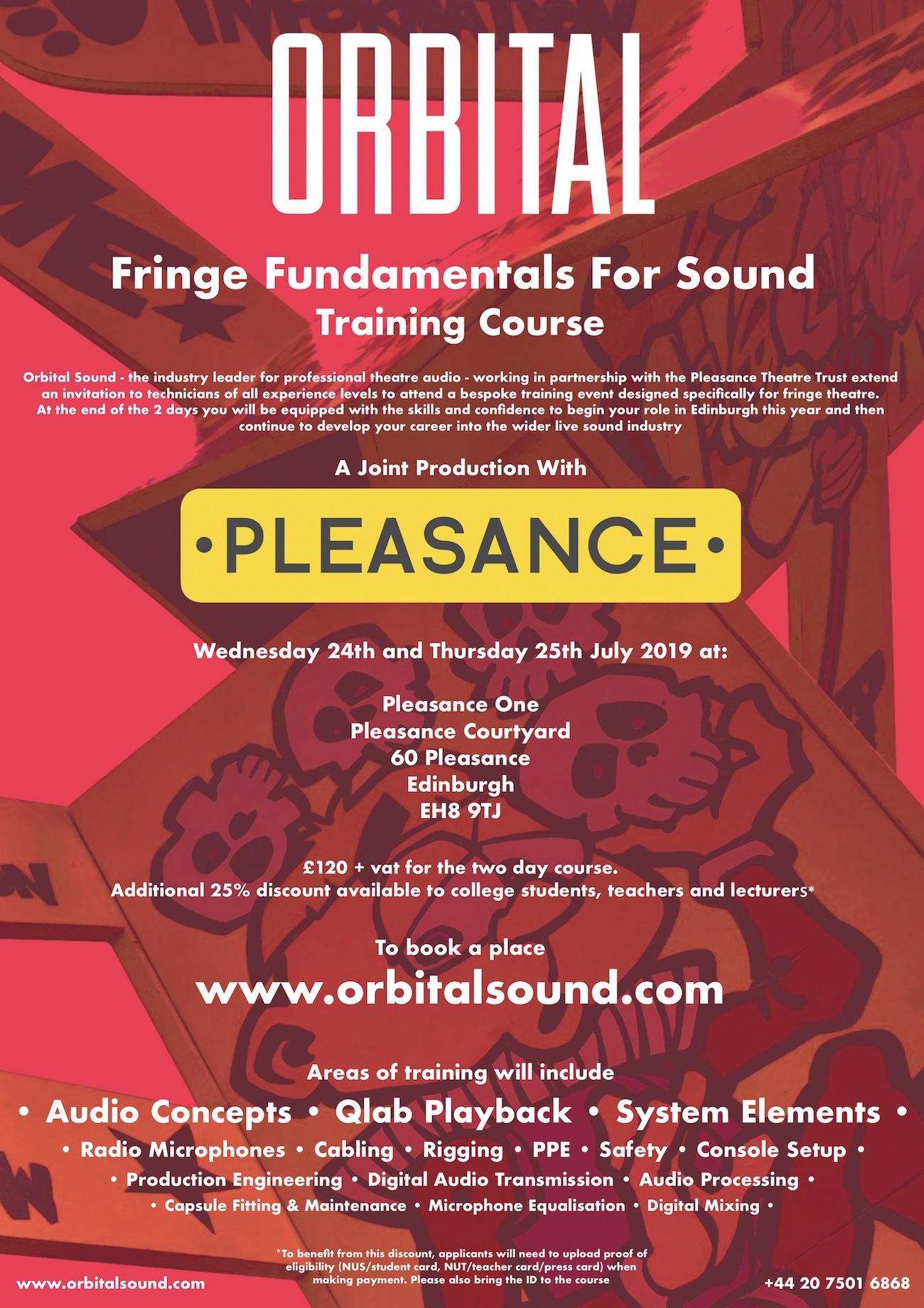 Fringe Fundamentals For Sound - Edinburgh Edition - Orbital